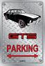 Parking Sign - Metal - HOLDEN HQ - GTS 4 DOOR - BLACK - SIMMON WHEELS