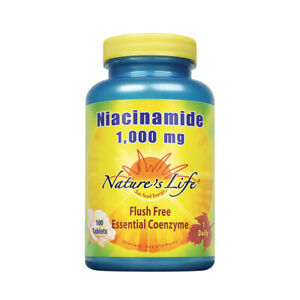 Nature's Life Niacinamide, 1000 mg | 100 Vegetarian Tablets