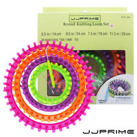 Round Knitter Looms Crocheting and Knitting Ring Set Pompom Hat Maker Craft Kit