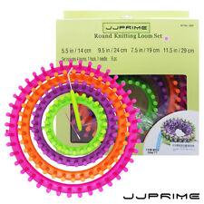 Round Knitter Looms Crocheting Knitting Ring Set Pompom Maker Craft Kit UK