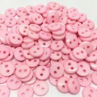 lot de 50 bouton scrapbooking 2 trou rose clair mercerie couture 9 mm couture