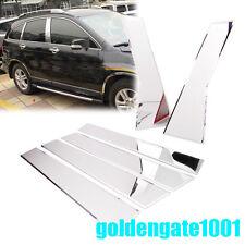 Chrome Stainless Steel Door Window Pillar Post Cover For 2012-2016 Honda CR-V GG