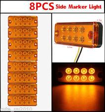 8X Universal Side Marker Light Lamp Car Truck  Trailer Lorry Caravan Waterproof