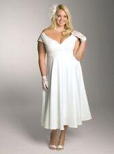$399 NWT Igigi Christelle Satin & Lace White Wedding Dress Bridal Gown Sz 14/16