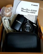 Canon PowerShot A1300 16MP Zoom HD Viewfinder Slim Digital Camera + case boxed
