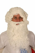 WHITE CURLY BEARD AND WIG - LUXURY QUALITY