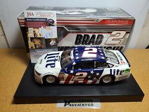 2018 Brad Keselowski #2 Miller Lite Patriotic Autograph 1:24 NASCAR Action MIB