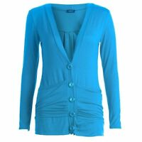 Ladies Button Up Boyfriend Cardigan Drop Pocket Top Long Sleeve Cardigan Jumper