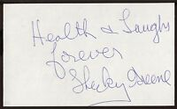Shecky Greene Signed Index Card Signature Vintage Autographed AUTO