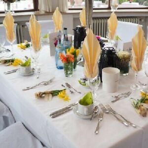Neue Damast Tischdecken 130*280 in Weiß, 100% BW, In Gastro und Hotel Qualität