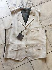 NWT Kroon Casual Dress Men's Vest Natural Linen Cotton Sz 2XL
