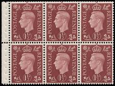SG464cw 1937 1 1/2d. Red-brown pane, unmounted original gum with good perfs. ...