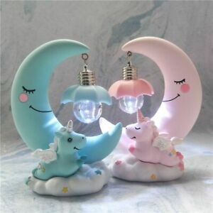 Unicorn Nightlight Creative Home Decoration Kids Room Figurines Room Decorations