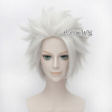 Bleach Hitsugaya Toushirou Silver White Party Men Layered Short Anime Hair Wig