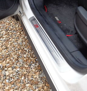 NEW 2019 MODEL MG3 EMBOSSED DOOR SILL PROTECTORS (4) IN 304 STAINLESS UK COMPANY