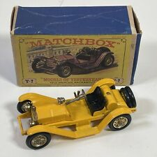 Matchbox Yesteryear Y 7 -2 Yellow Raceabout Type 35J 1913 Mauve BOXED #2