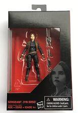 STAR WARS Rogue Sergeant Jyn Erso 3.75 Story Black Edition Walmart Exclusive