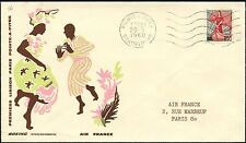 LETTRE COVER 1ER VOL FIRST FLIGHT AIR FRANCE GUADELOUPE POINTE PITRE PARIS 1960