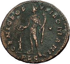 Severus II as Caesar 305AD Ancient Roman Coin Genius Protection Wealth i34703
