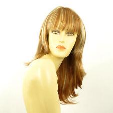 Perruque femme mi-longue blond foncé méché blond clair GLADIS F27613