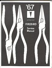 1967  67   FIREBIRD   SHOP MANUAL SUPPLEMENT