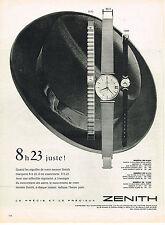 PUBLICITE ADVERTISING  1960   ZENITH   collection montre