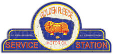 65x30cm Golden Fleece Service Station Shield Tin Sign, Cave, Bar, Garage, Retro
