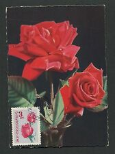 BULGARIA MK 1964 FLORA ROSEN ROSE ROSES MAXIMUMKARTE CARTE MAXIMUM CARD MC d6320