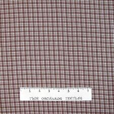 Rustic Woven Fabric - Real Homespun Brown Tartan Plaid - Textile Creations YARD