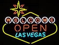 """New Welcome Las Vegas Open Bar Beer Neon Light Sign 24""""x20"""""""