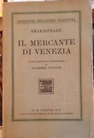 IL MERCANTE DI VENEZIA-Shakespeare- Paravia 1926