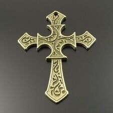 10pcs Antiqued Bronze Vintage Alloy Cross Pendant Charms Accessories 33066
