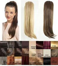 Extensions de cheveux queues de cheval raides pour femme