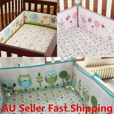 4Pcs/set Animal Baby Infant Cot Crib Bumper Toddler Nursery Safety Protector +