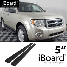 Running Board Side Step 5in Black Fit Ford Escape (Mazda Tribute) 08-12