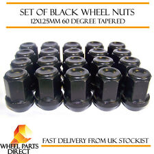 Alloy Wheel Nuts Black (20) 12x1.25 Bolts for Suzuki Swift [Mk1] 00-04