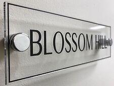 Personalised Custom House Wall Door Plaques Office Signs Modern Look 25cm x 8cm