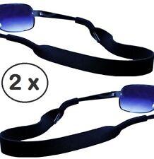 Neopren - Sportband - Brillenband - Halteband – 2 x – in Farbe schwarz| NEU