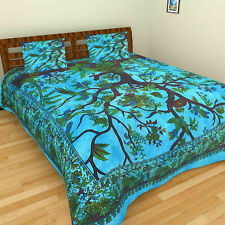 Turquoise Duvet Cover Indian Mandala Cotton Handmade Comforter Set Bedding Set