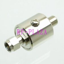 Lightning Arrestor protector 0-3GHZ 50Ω DC-230V F TV male to F female Coaxial