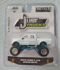 Jada Toys 1:64 Scale Just Trucks • 2008 Ford F- 350 Super Duty White