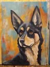 OriginAl Oil Painting~Australian Kelpie~ Dog~30 minute work~Impressionism~Art