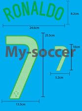 RONALDO #7 Portugal Away EURO 2012 NAME NUMBER PU PRINT FREE SHIPPING