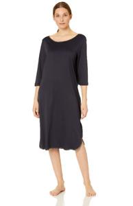 Hanro Women's Nela 3/4 Sleeve Gown Midnight M