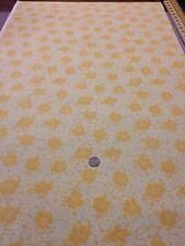 Más tesoros Antiguo 100% tela de algodón acolcha Artesanal Amarillo Floral