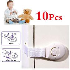 10pcs Cabinet Door Drawers Refrigerator Safety Plastic Lock For Child Kid Infant