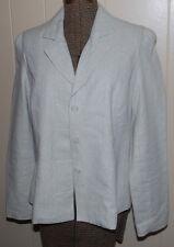 Isaac Mizrahi Target Ladies SZ 8 Blazer Jacket Suit Coat Tan Gold Glitter Linen