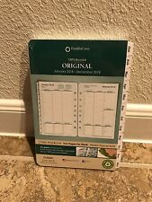 Franklin Covey Original White Tabbed 2018 Planner Refill 2 Page Per Week Classic