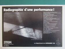 8/1971 PUB LUCHAIRE SA STRIM ROQUETTE ANTICHAR 89 MM IMPACT ORIGINAL FRENCH AD