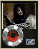 "Alice Cooper ""Welcome To My Nightmare"" Silver Record Display Wood Plaque"